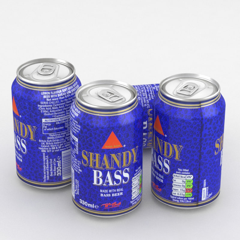beverage shandy bass 3D model