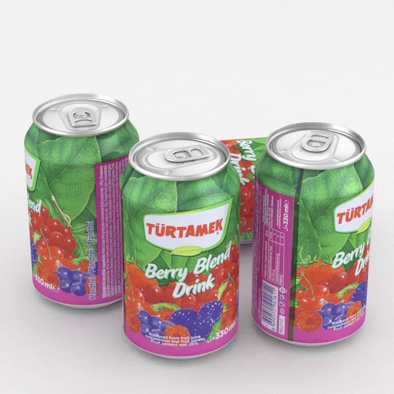 beverage drink turtamek 3D