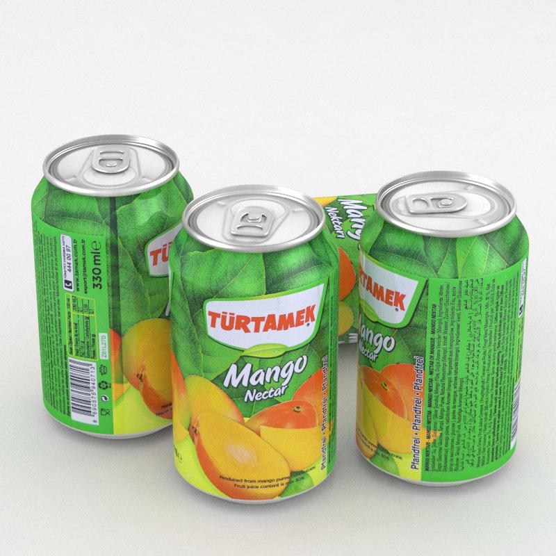 beverage turtamek mango 3D
