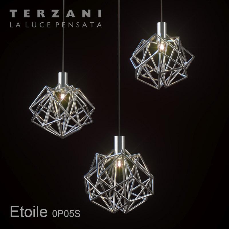 lamp terzani etoile 3D model