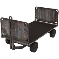 baggage cart 1 rusty 3D model