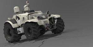 3D model concept tractor valtra