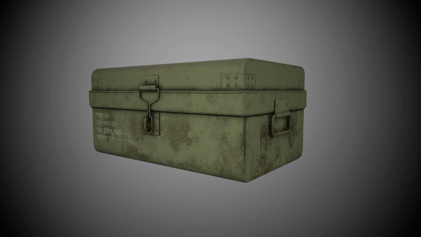 suitcase indian 3D