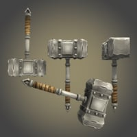 hammer ready asset 3D