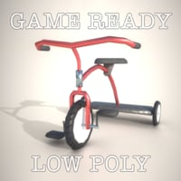Tricycle Game ready AR VR PBR