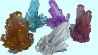 realistic various crystals model