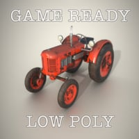Game Ready Old Tractor Low-Poly