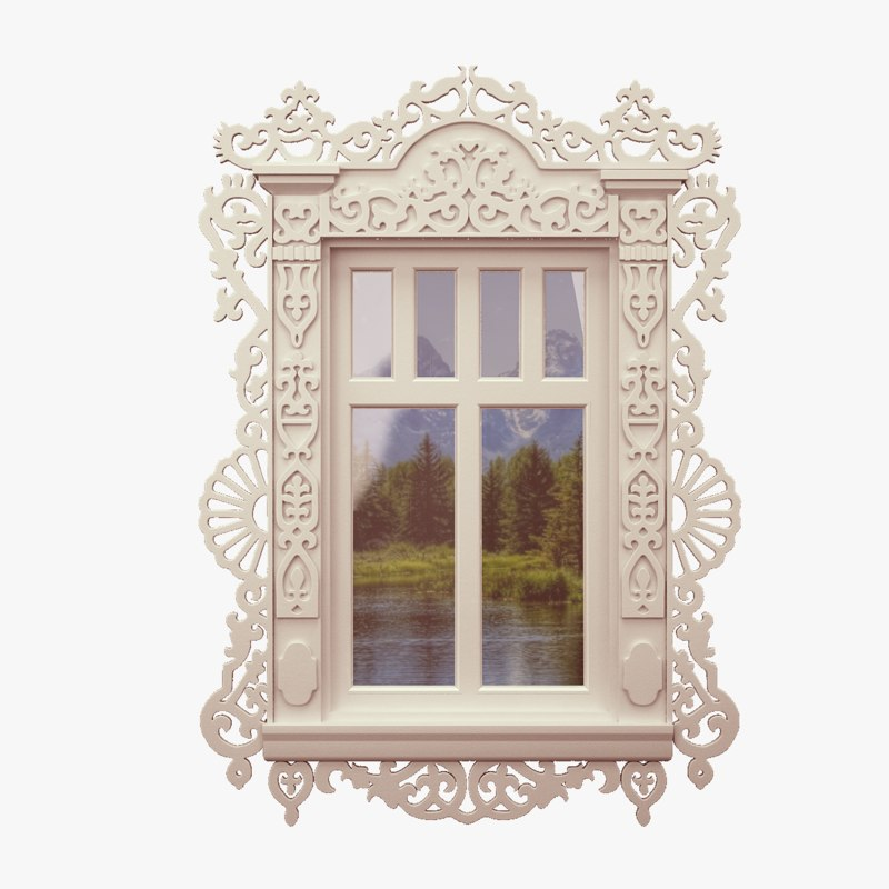 3D windows carved glass