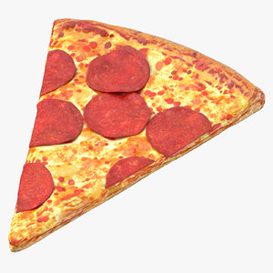 pizza slice pepperoni 3D