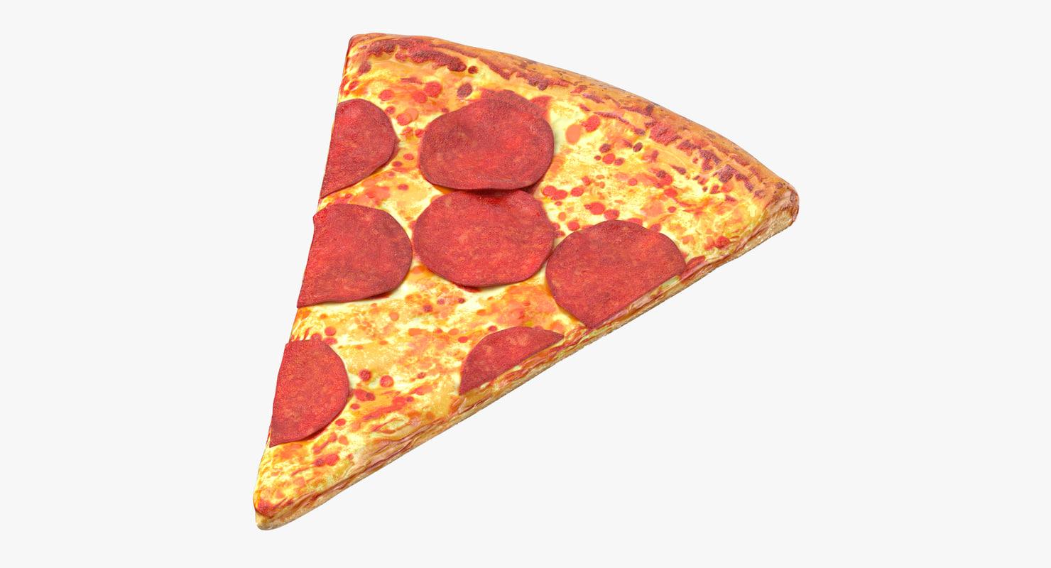 pizza slice pepperoni 3D