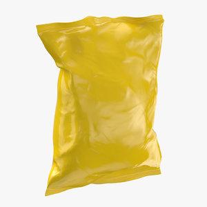 potato chips bag closed 3D model