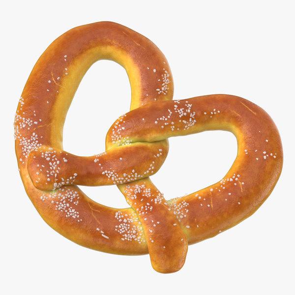 3D pretzel large 01 model