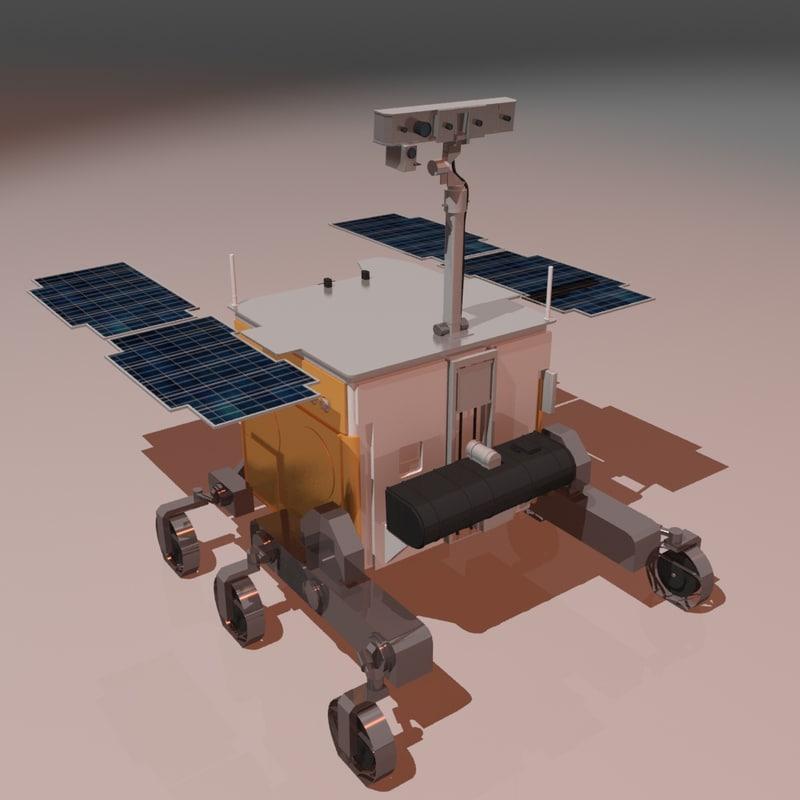 exomars esa rover 3D model