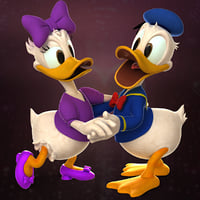 3D donald daisy duck