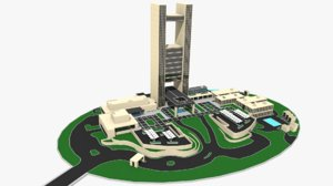 seasons hotel bahrain 3D model