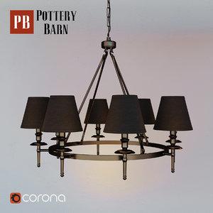 3D collins chandelier sconce