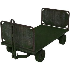 baggage cart 1 moss 3D model