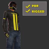 biker pbr 3D model