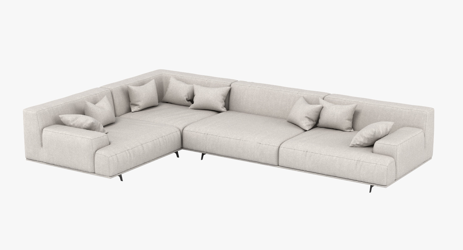 poliform tribeca sofa 3D model