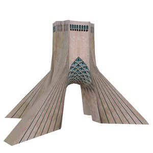 3D azadi tower iran model
