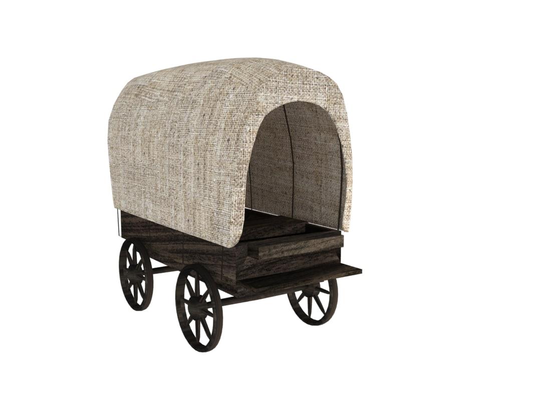 3D wood cart