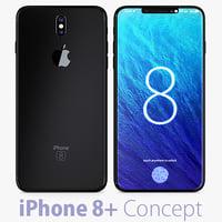 concept iphone 8 3D model