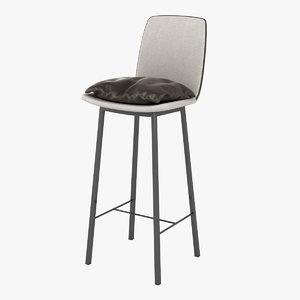 kff lhasa bar stool 3D