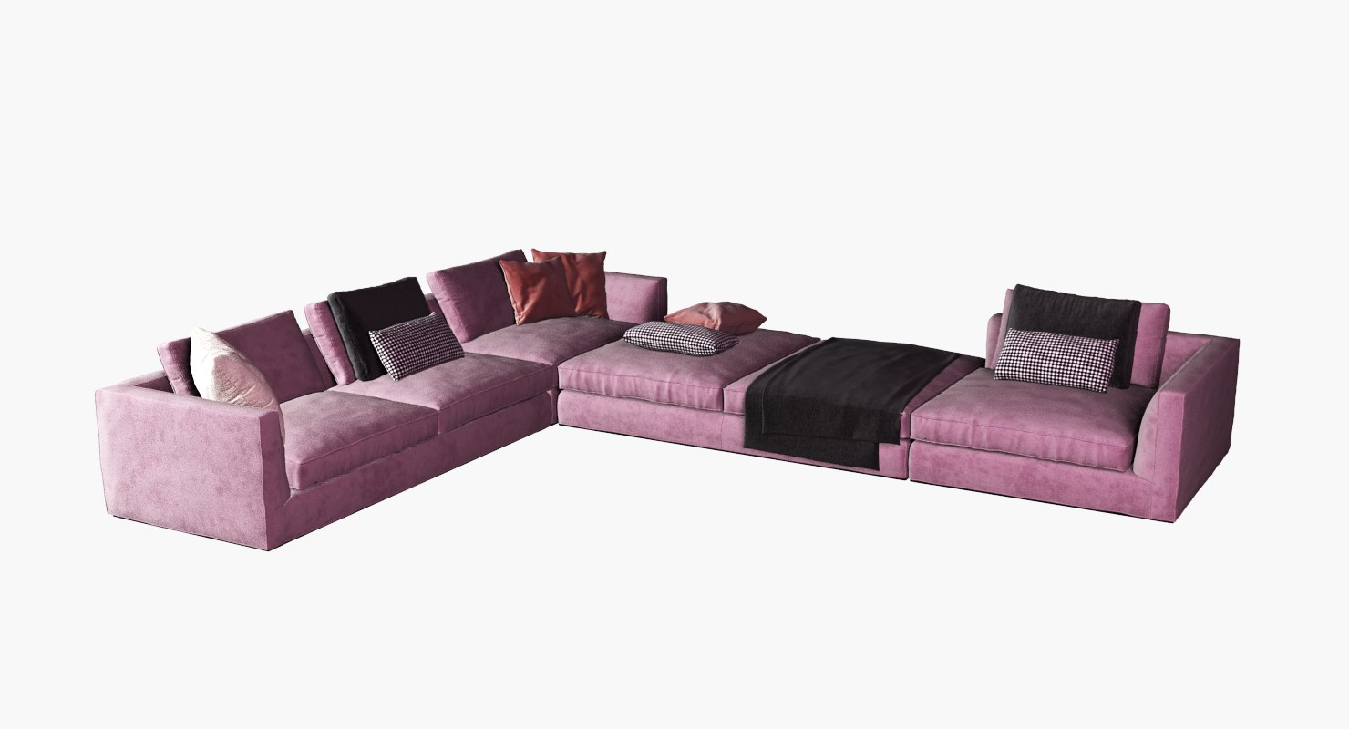 Fabric Corner Sofa Set Model