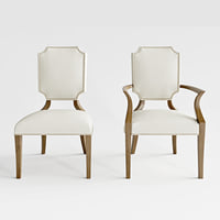 3D model bernhard soho luxe arm chair