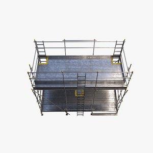 3D scaffolding metallness