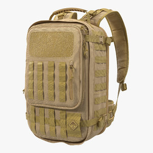 3D model tactical military trekking backpack
