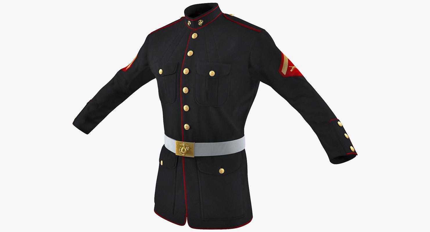 3D marine corps parade jacket