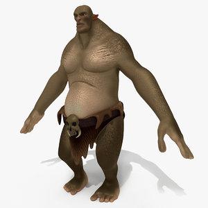 monster cartoon ogr model