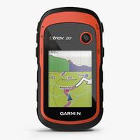 handheld gps navigator garmin 3D model