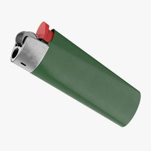 disposable plastic gas lighter 3D