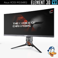 3D model asus rog pg348q element