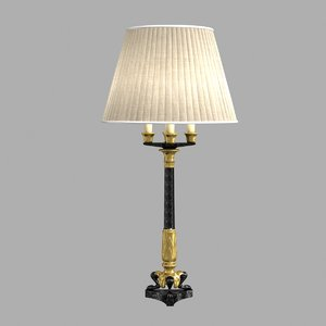table lamp tripod candelabrum 3D model