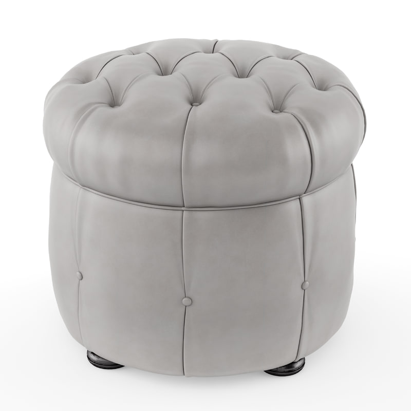 3D pouf chesterfield classic leather