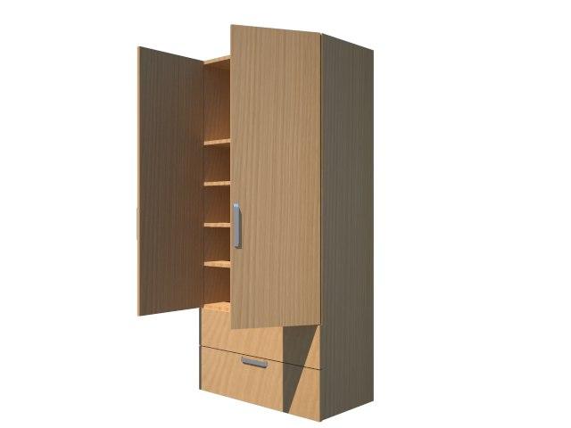 3D dolap cabinet cabin model