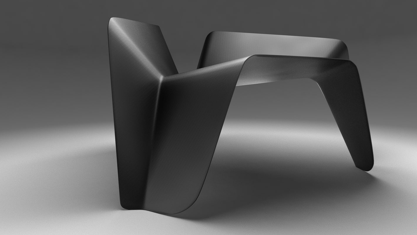 carbon chair thomas - 3D model