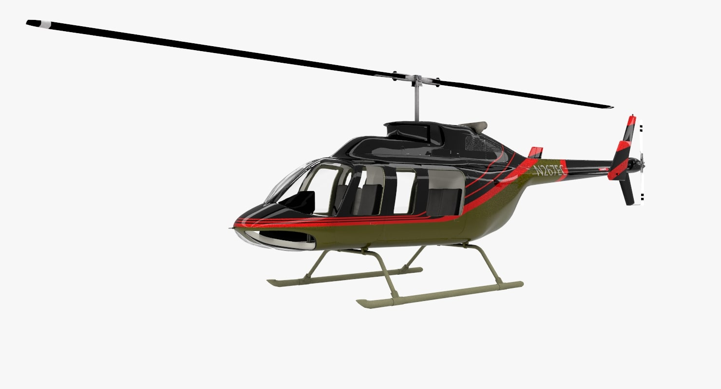 bell 206 long ranger 3D model