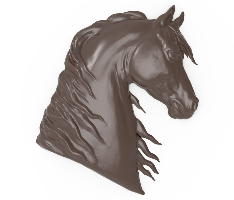 bas relief horse s 3D