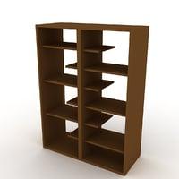 3D bookshelf v4