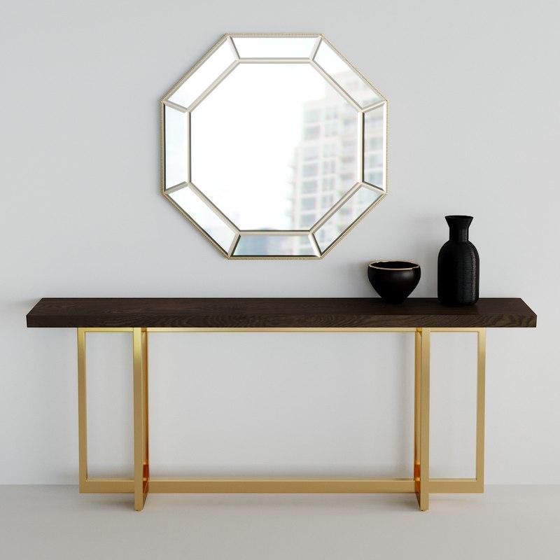 mirror console 3D model