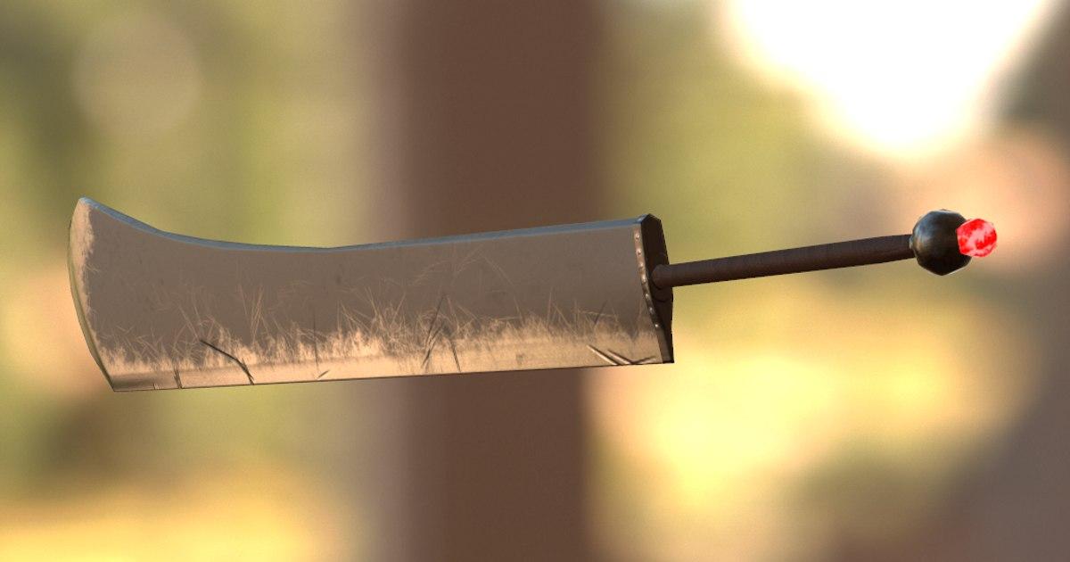 3D model sword pbr