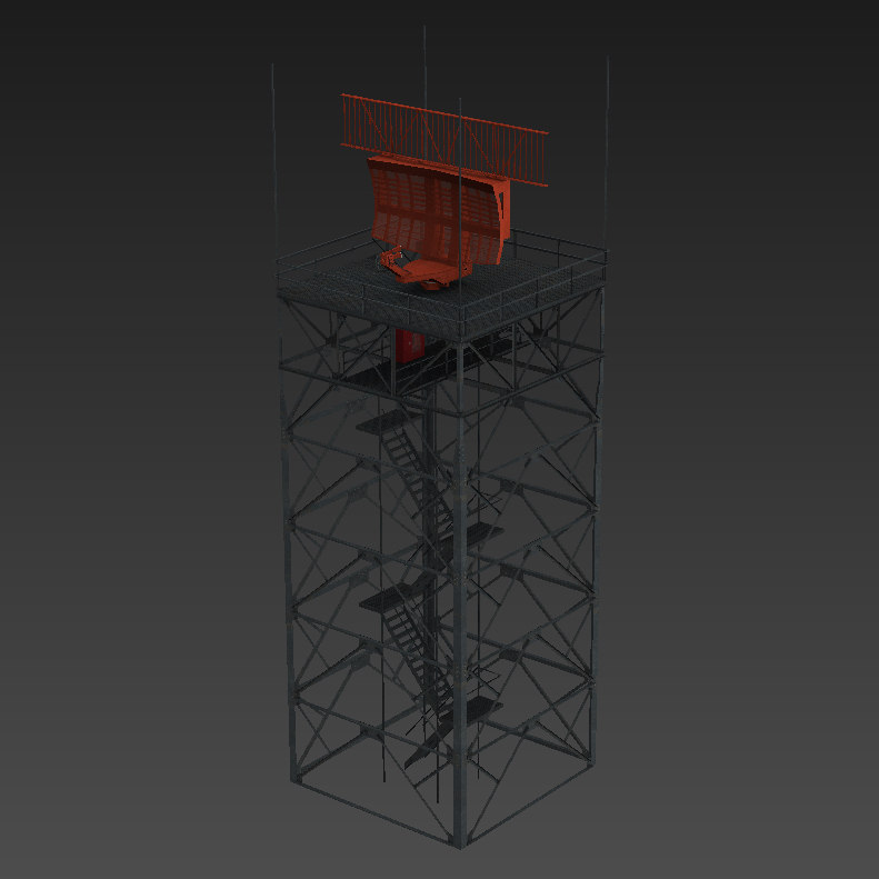 asr-9 airport surveillance radar 3D model