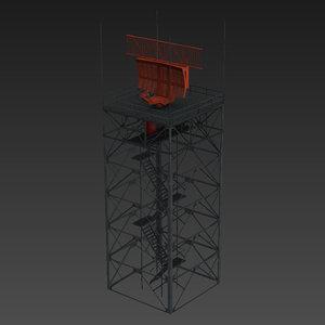 asr-9 airport surveillance radar 3D model