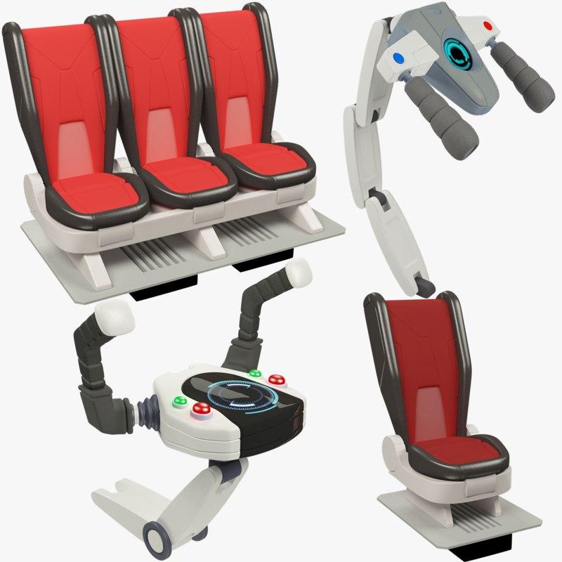 spaceship steering wheels 3D