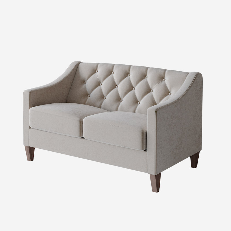 3D cleo tufted loveseat