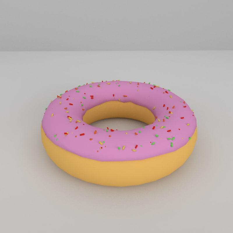 doughnut icing model